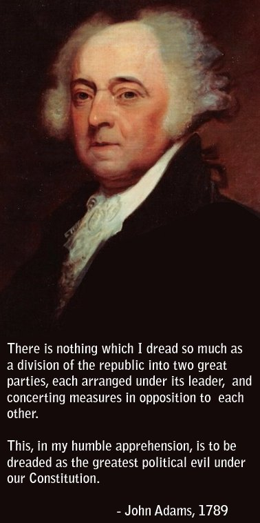 Adams quote about two-party system